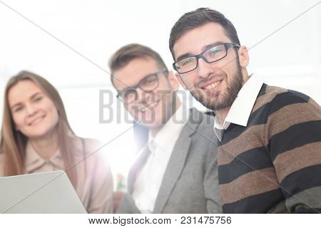closeup.group of business people