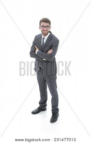portrait of a pensive businessman. view from above