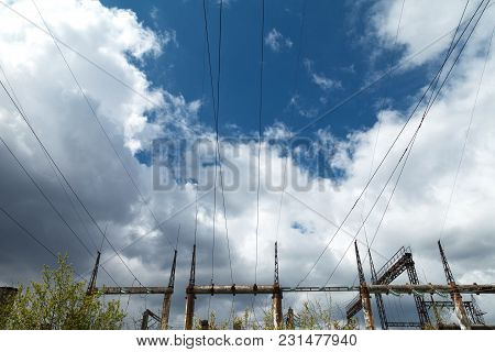 High-voltage Transmission Lines, Metal Supports, Concrete Poles