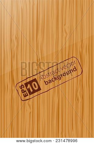 Vertical Wooden Texture Background Design. Vector Illustration