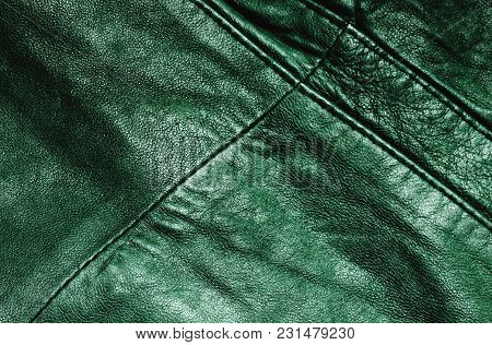 Green Abstract Leather Pattern For A Design