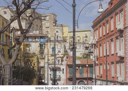 Old Italian Architecture Of South Italy. Naples