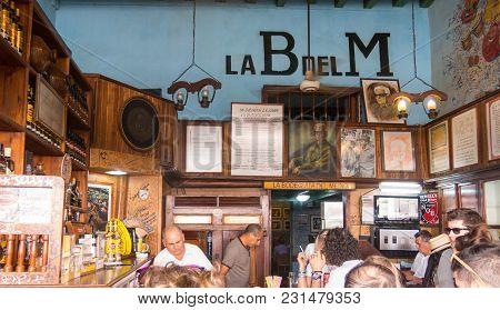Havana, Cuba - January 16, 2017: Interior Bodeguita Del Medio In Havana. Since Its Opening In 1942,