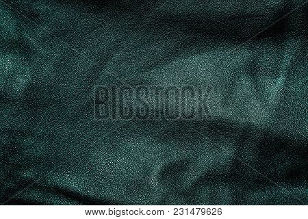 Dark Blue Leather Texture Background, Material Background