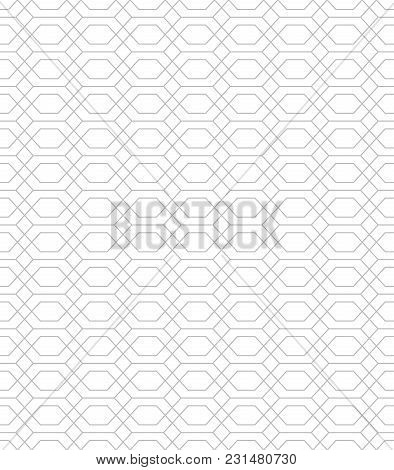 The Geo.metric Pattern With Lines. Seamless Vector Background. White And Grey Texture. Graphic Moder