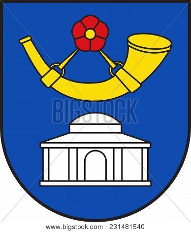 Coat Of Arms Of Horn-bad Meinberg Is A German City In The Principality Of Lippe In The North-east Of