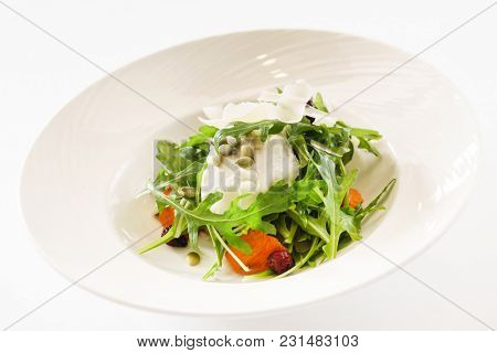 fresh saladm with cheese