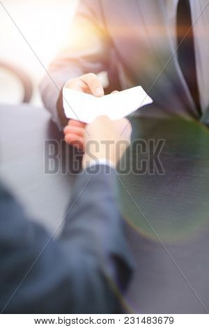 closeup. document in the hands of a businessman