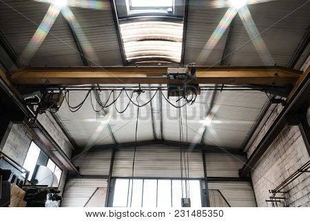 Overhead Crane Indoor View, Little Metal Factory