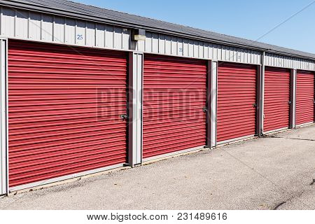 Numbered self storage and mini storage garage units VIII