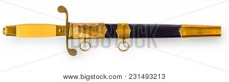 Dirk Of The Russian Naval Officer Isolated On White Background