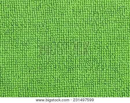 Green Fabric Texture Background. Abstract Background, Empty Template.
