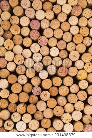 Background Pattern Of The Wine Bottles Corks