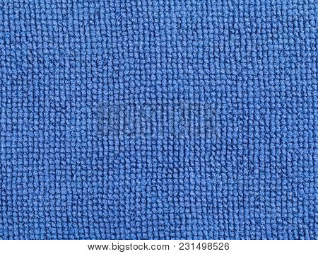 Blue Fabric Texture Background. Abstract Background, Empty Template.