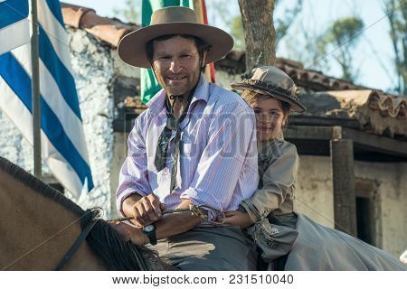 Gauchos (south American Cowboys) Poses During The Traditional Gauchos Feast In Tacuarembo, Uruguay