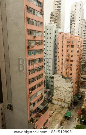 Tallest Of Orange Rooftops Of The Buildings In Hong Kong