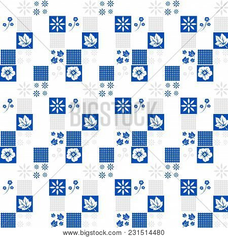 Floral Pattern. Simple Abstract Floral Geometric Texture. Perforated Surface. Design Pattern, Textil
