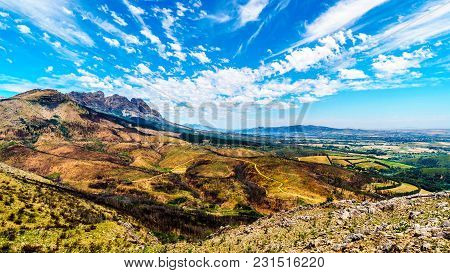View From The South End Of The Bainskloof Pass Between The Towns Ceres And Wellington, Showing The D