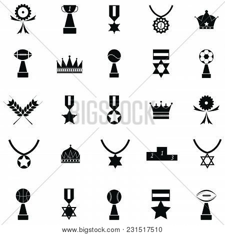 The Awards  Silhouette Vector Of Icon Set