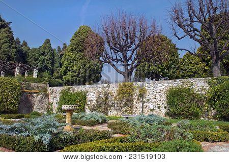 Picturesque Corner In The Park Ramat Hanadiv, Memorial Gardens Where Buried Baron Edmond De Rothschi