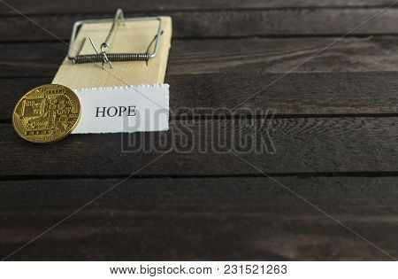 Mouse Trap, Backside Of Bitcoin And The Word: Hope