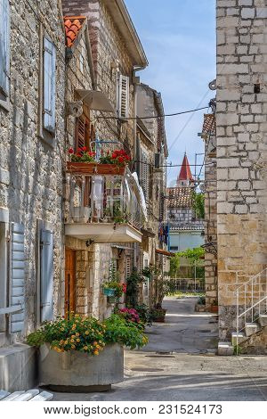 Narrow Street In Trogir Old Town, Croatia