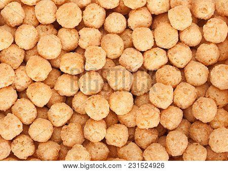 Sweet Corn Fried Balls Snack Closeup Background