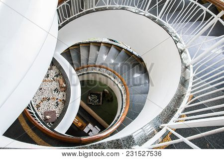 Image Architecture Spiral Staircase In Modern Building