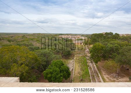 Majestic Ruins In Uxmal,mexico. Uxmal Is An Ancient Maya City Of The Classical Period In Present-day