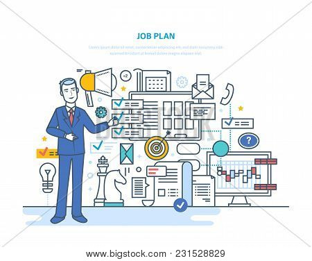 Job Plan. Time Management, Planning, Control, Organization, Optimization Work Time. Analysis Of Resu