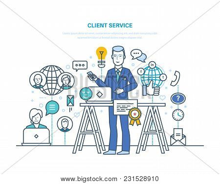 Client Service. Feedback, Interaction Through Means Of Communication, Social Networks. Technical Sup
