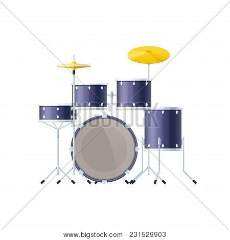 Musical Instrument Is A Drums Or Trap Kit. Percussion Musical Instrument, Classical, Orchestral, Con