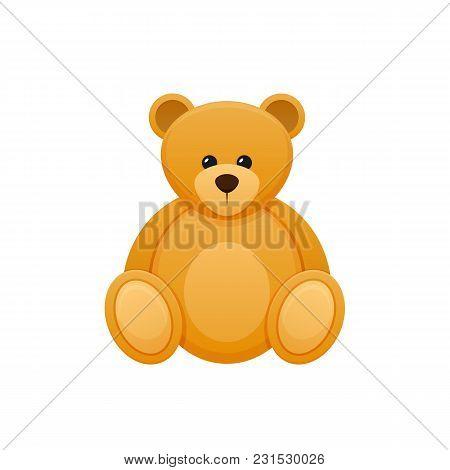 Children S Toy Color, Plush Cute Cartoon Bear. Cute, Fluffy, Funny Bear. Kid S Toys Store, Kindergar