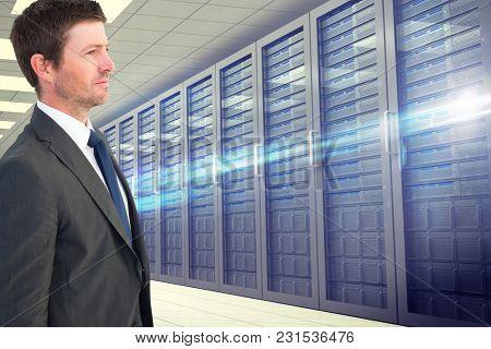 Digital composite of data center