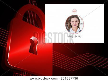 Digital composite of Identity Verify security App Interface