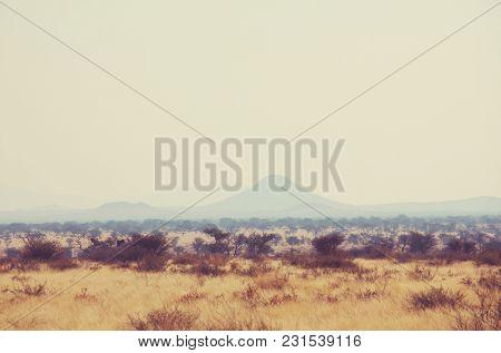 Deserted landscapes in Namibia