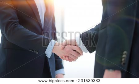close-up. handshake successful business people