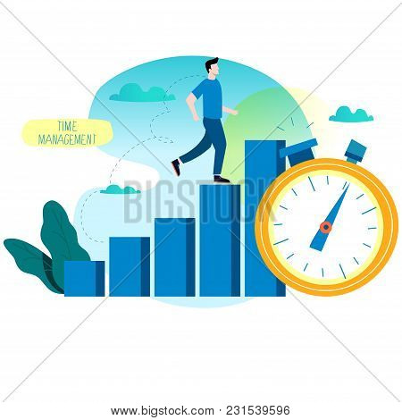 Productivity Increase, Time Management, Business Optimization, Progress Planning, Efficiency Flat Ve