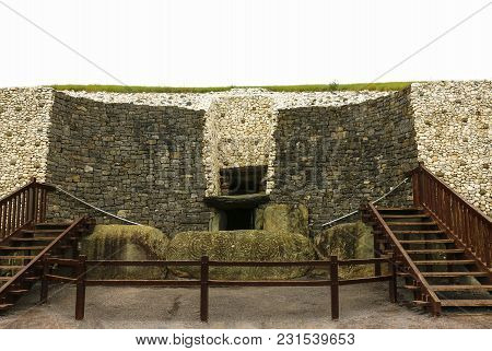 Megalithic Tomb Of Newgrange, The Largest In Ireland Located In The Boyne Valley