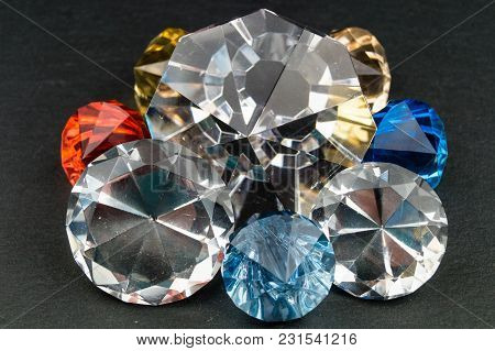 A Mix Of Colorful Bright Shining Jewels