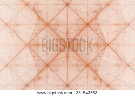 Bright Abstract Fractal Veil And Square Pattern Of Fantasy, Fractal Waves Fantasy