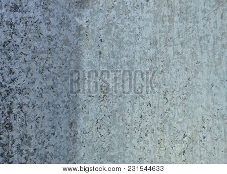 Gray Steel Background. Metal Surface With Dots And Scratches. Retro Wallpaper - Aged Steel Surface.