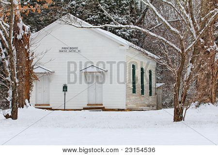 Primitive Baptist Church in the Winter