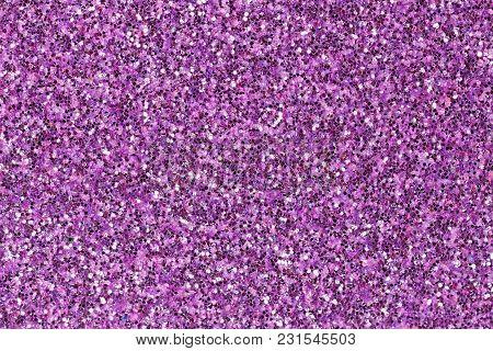 Light Violet Foam Eva Texture With Glitter. High Resolution Photo.