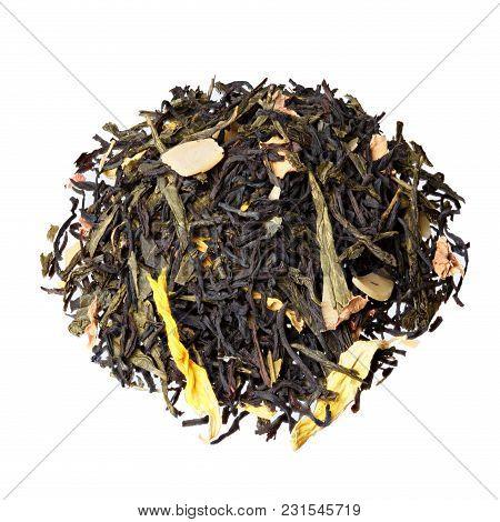 Autumn Extravaganza Tea. Mix Of Ceylon Black Tea, Sencha, Sunflower, Rose, Almond Flakes