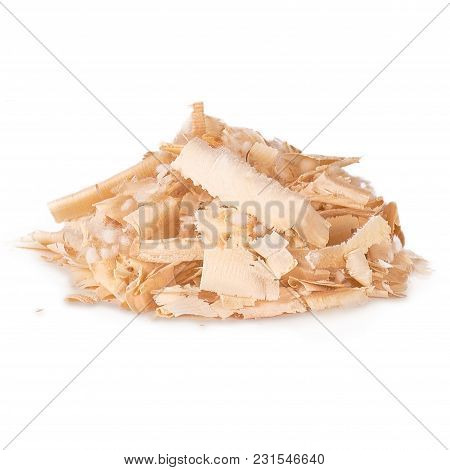 Arolla Pine Shavings For Stuffing Of Pillows On White Background Isolated