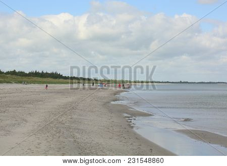Marielyst.june-05-2017. Beach At Marielyst On The Baltic Sea. Denmark