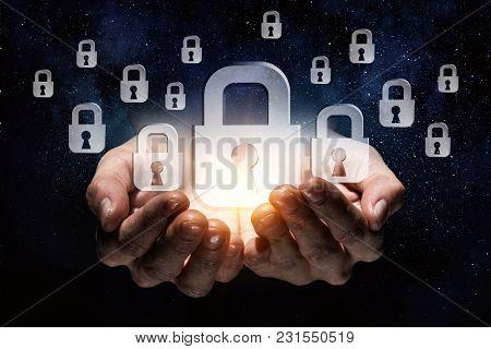Glass lock symbols