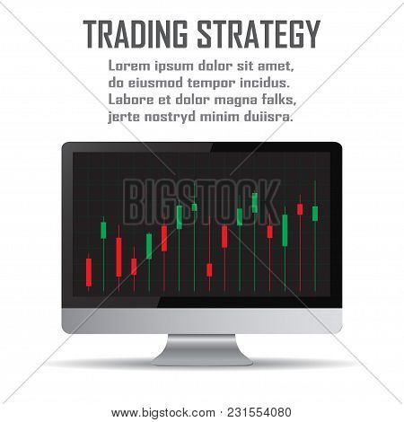 Trading Strategy. Investment Strategies And Online Trading Line Art Concept.