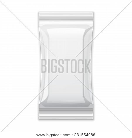 White Blank Foil Packaging Coffee, Salt, Sugar, Pepper, Spices, Sachet, Sweets Or Candy Plastic Pack